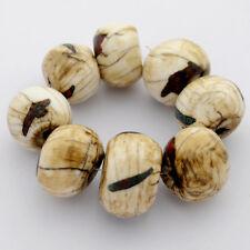 Conch Shell Bead Strand 8 Beads Tibetan Nepalese Handmade Tibet Nepal BS1072