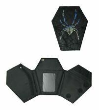 coffin wallet gothic spider * faux leather cobweb lace * Dark Star Jordash BNWT