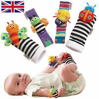 Lamaze Rattle Set Baby gift Sensory Wrist Rattles Bracelet Toys warm Socks UK