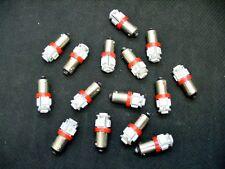 15 BRIGHT Red 5 LED Instrument Panel Dashboard Lights Bulbs BA9S 57 1895 AMC GMC