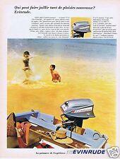 Publicité Advertising 026 1967 Evinrude moteurs de bateaux