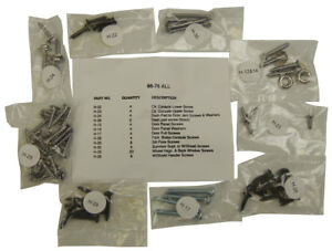 1968-1976 Chevrolet Corvette C3 Interior Screw Kit Set  72 Pieces New