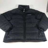 Columbia Mens Quilted Puffer Jacket Black Size Large missing zipper toggle