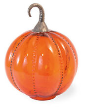 Orange Glass Pumpkin - Large By Boston International