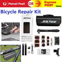 New SAHOO Bicycle Bike Cycling MTB Carry Tyre Repair Tools Bag Pump Set Kit ji