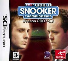 NINTENDO DS 3DS WORLD CHAMPIONSHIP SNOOKER Billard 2008 Neuwertig