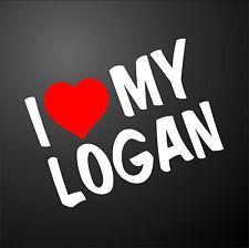 Amo il mio DACIA Logan Diesel Auto Paraurti Finestra Adesivo Grafica Alloy Wheels
