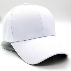 Plain Baseball Cap Strapback Adjustable Solid Blank Hat Polo Style Visor Caps