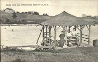 Jeffersonville NY Geibs Pond c1910 Postcard