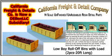 Low Boy Roll-Off Bin w/Load (2pcs) N/1:160-Scale CAL Freight & Details Co *NEW*
