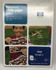 """HP Premium Photo Paper Glossy 8.5"""" x 11"""" C6979A 50 Sheets 7.5 Mil NEW SEALED"""