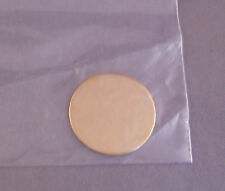 Gold Colored Round Engraving Plate New Old Stock