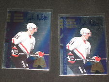 LOT (2) JOSH HOLDEN ROOKIE 1996 EDGE ICE CERTIFIED SIGNED AUTOGRAPHED CARD