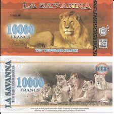 LA SAVANNA BILLETE 10000 FRANCS 2016 SPECIMEN