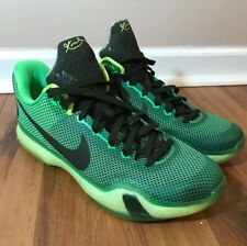 d9217ce6f9801 Nike Kobe X Poison Green Vino 705317-333 Basketball Shoes Used Mens Size 13