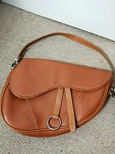 Leather Tan Ladies Saddle bag/dior style