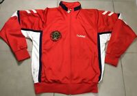 VTG 80s Men's HUMMEL Sports Russia Team track Jacket Rare SIZE M Red Russia Team