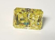 15 ct Radiant Cut Canary Vintage Stone Top CZ Moissanite Simulant 17 x 12 mm
