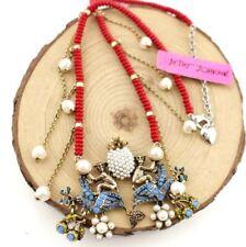 Hot Rhinestone Betsey Johnson Fashion color charm pendant lady sweater necklaces