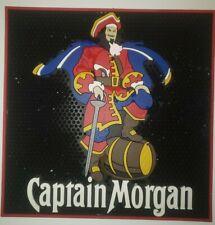 """Rare, Captain Morgan Spiced Rum Rubber Bar Mat Spill Large 16 1/2"""" x 16 1/2"""" !!!"""