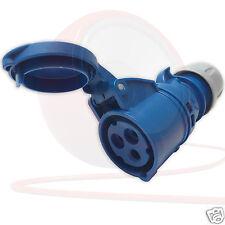 32amp 240v 2p E Ceeform Câble montage Bleu femelle Prise 3 Pôles Pce (223-6)