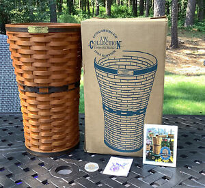 1994 Longaberger Umbrella Basket With Protector, J W Collection - With Box - EUC