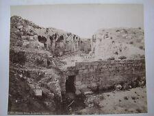 "RARE 1880's DEL CASTELLO EURYALUS, SIRACUSA, ITALY, 9 1/2"" x 12 1/2"" PHOTOGRAPH"