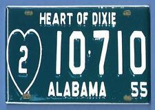 ALABAMA LICENSE PLATE *2X3 FRIDGE MAGNET* HEART OF DIXIE STOCKING STUFFER 904