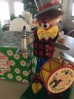 "Vintage Steinbach German Musical Smoker ""Circus Clown"" Original Box Never Used"