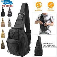 Men Tactical Sling Bag Pack Military Shoulder Backpack Tactical Sling Chest Bag
