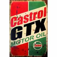 "Castrol Motor Oil Mechanics Service Station Garage Metal Sign 8"" x 12"""