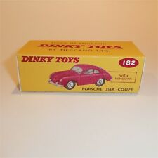 Dinky Toys 182 Porsche 356A Coupe empty Repro Box for Red model