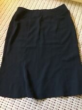 Charles Gluck Black Skirt Size 12 A-Line, Focus 2000, Knee-Length and Solid