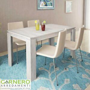 Tavolo allungabile moderno ATENA pino bianco cucina sala da pranzo living design
