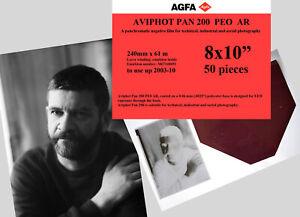 "Agfa Aviphot Pan 200 aerial film 8x10"", 50 sheets"
