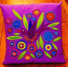 Flying Bird Cushion - wool applique pillow PATTERN - Flying Fish