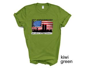 911 tshirt, We Will Never Forget shirt 911 Anniversary t-shirt, 20 year
