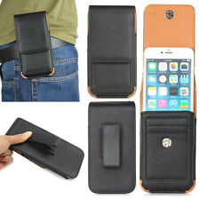 New Leather Carrying Vertical Holster Belt Clip Case Slot Cover for Cell Phones