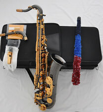 Professional Black nickel C Melody sax saxophone high F# with new case + 2 neck