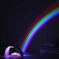 Rainbow Projector Light – LED Kid Night Light Battery Bedroom Lamp Baby Children