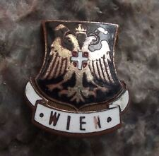 1920's Wien Vienna Two Headed Eagle Shield Heraldic Crest Coat of Arms Pin Badge