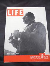 WWII Life Magazine Jan. 1942 North Atlantic Patrol
