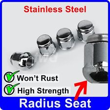 4 x ALLOY WHEEL NUTS FOR MG/ROVER RADIUS SEAT M12x1.5 STAINLESS CAP BOLT [J10]