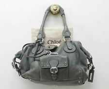 CHLOE Ladies Paddington Light Green Leather Chunky Lock Satchel Handbag