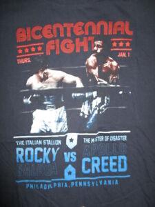 "Bicentennial Fight ""ROCKY"" SYLVESTER STALLONE vs ""APOLLO"" CREED (LG) T-Shirt"