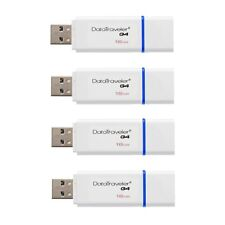 New Kingston 16GB DataTraveler G4 USB 3.0 Flash Drive Memory Stick Blue - 4 Pack