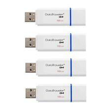 New Kingston 16GB DataTraveler G4 USB 3.0 Flash Drive Memory Stick Blue - 4 Pack