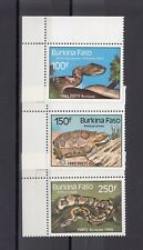 TIMBRE STAMP 3 BURKINA FASO Y&T#302-04 TORTUE SERPENT NEUF**/MNH-MINT 1985 ~A75