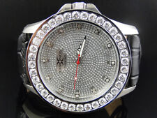 Mens New White Iced Bezel Khronos Jojino Joe Rodeo Genuine Diamond Watch