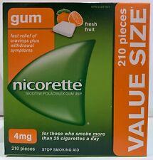 Nicorette Nicotine Gum, Quit Smoking and Smoking Cessation Aid, Fresh Fruit, 4mg